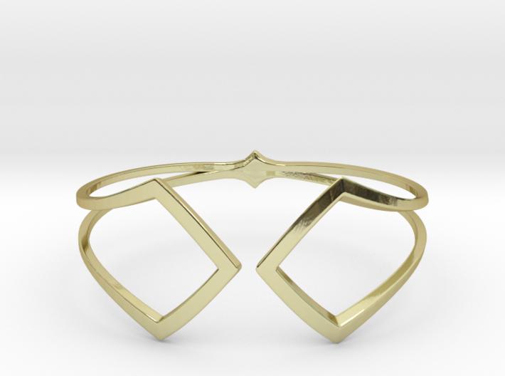 HIDDEN HEART Bracelet. Pure Elegance  3d printed