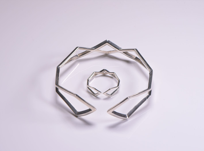 HIDDEN HEART Connect, ring us size 10.5 , 20,2mm 3d printed