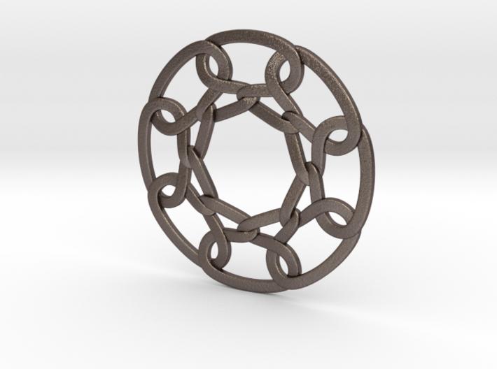 Celtic Woven Circular Chain 3d printed