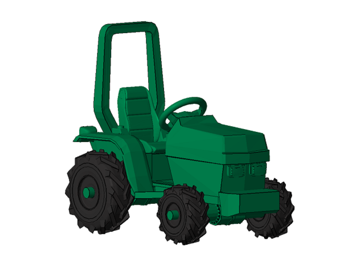 1/87 Scale Garden Tractor 3d printed