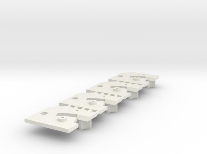 4 Sideways Mounting Plate Carrera Digital 132 D132 3d printed
