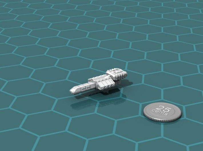 Eltanni Heavy Carrier 3d printed Render of the model, with a virtual quarter for scale.