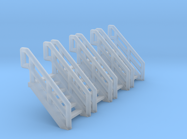 Z Scale Industrial Stairs 6 (4pc) 3d printed