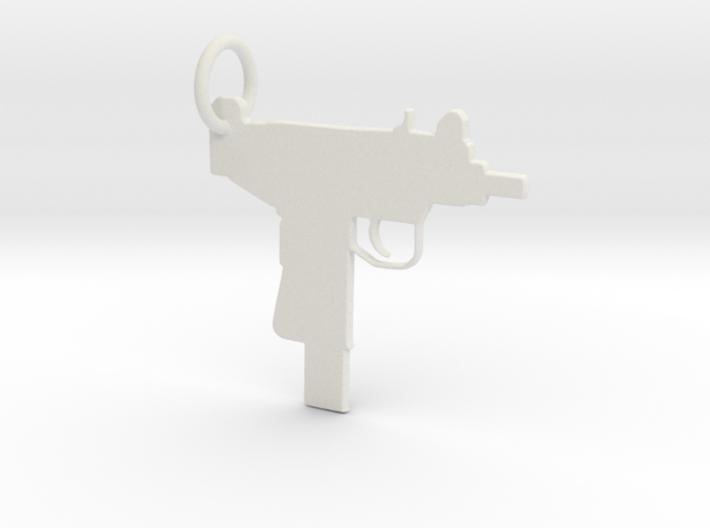 UZI Keychain 3d printed