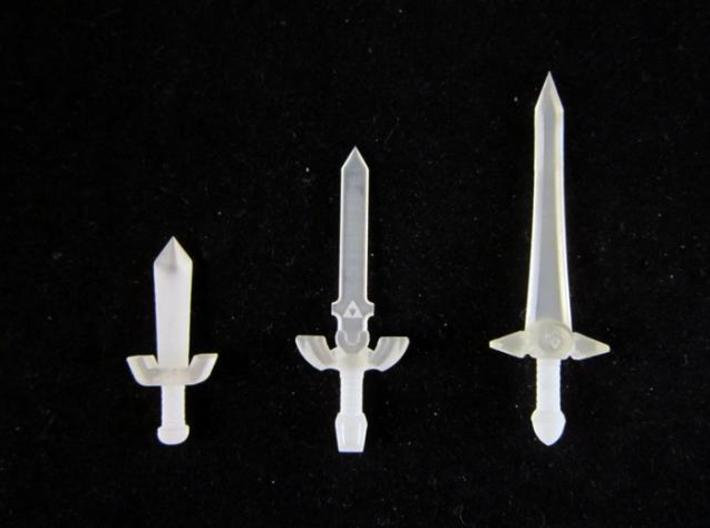 Time Sword Pack 3d printed Frosted Ultra Detail