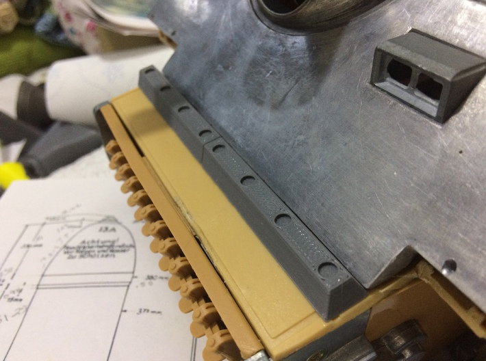 1/16 Sturmtiger front bar 3d printed Printed in FDM