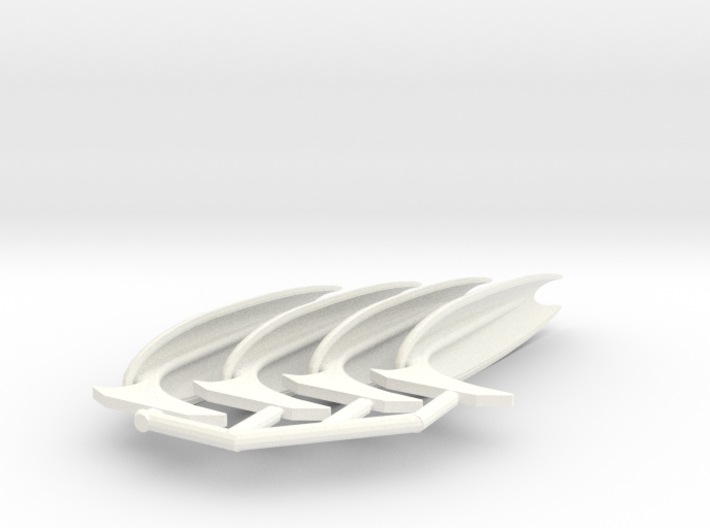2500 fully open no field wing set 3d printed