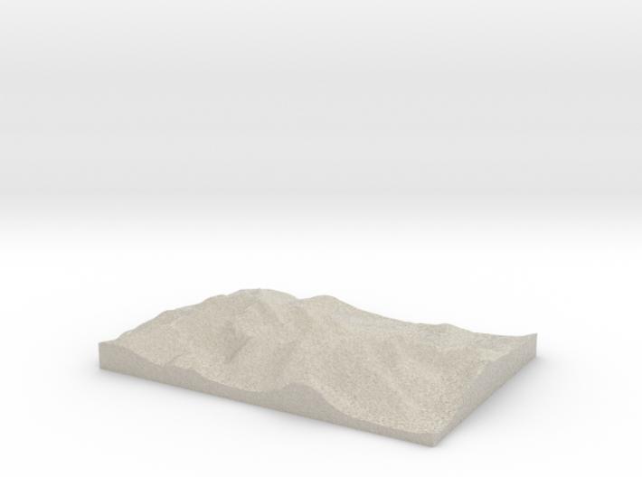 Model of Lough Callee 3d printed