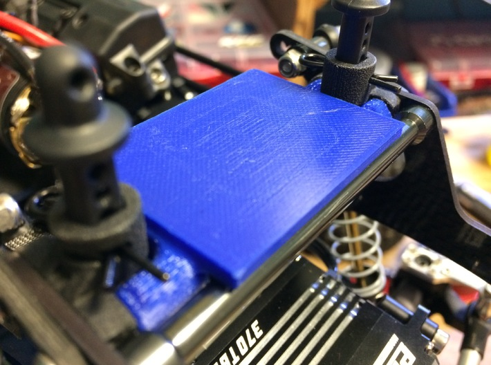 LCG Winch Contoller Mount 3d printed Shown in PLA prototype.