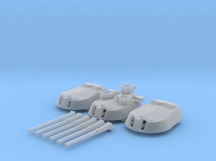 1/600 MKI* HMS Renown Guns 1942 3d printed 1/600 MKI* HMS Renown Guns 1942