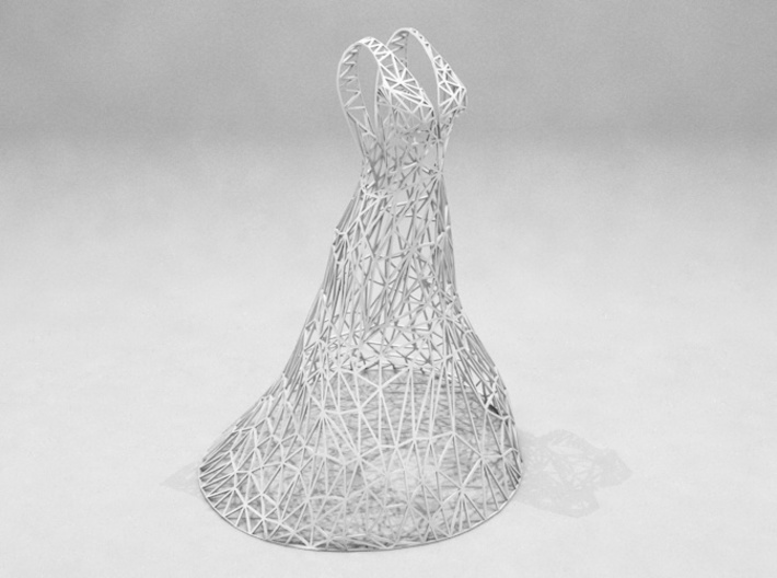 Jewelry Wire Dress Display (25 cm) 3d printed
