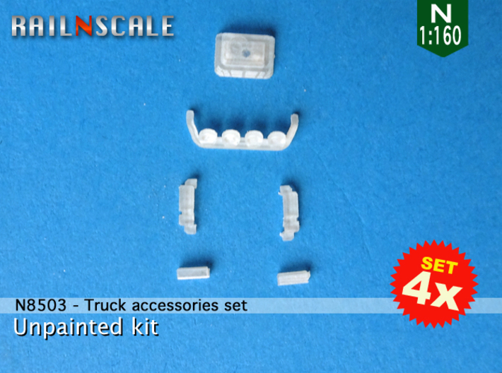 SET 4x Truck accessories (N 1:160) 3d printed