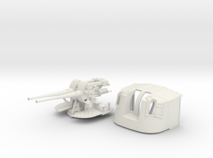 "1/48 Tribal Class 4.7"" MKXII CPXIX Twin Mount x1 3d printed 1/48 Tribal Class 4.7"" MKXII CPXIX Twin Mount x1"