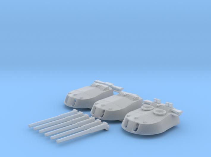 1/600 MKI* HMS Repulse Guns 1941 3d printed 1/600 MKI* HMS Repulse Guns 1941