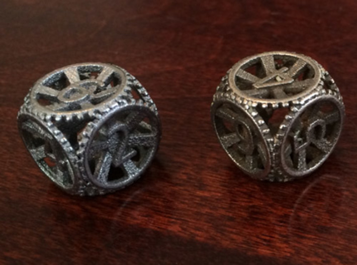 Gear Dice - D6 10 Pack 3d printed