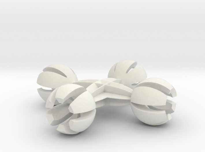 4 finger balls 6.35 mm 3d printed