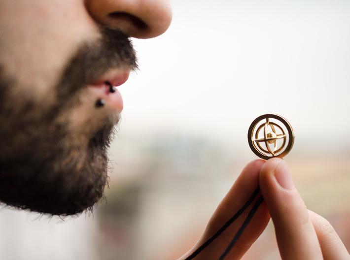 Rotating Planet - Time Turner inspired 3d printed