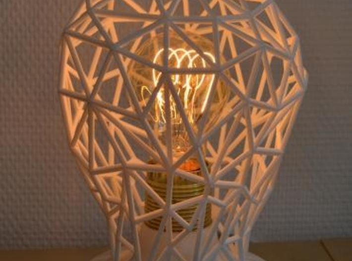 Hommage to the light bulb 3d printed Light on