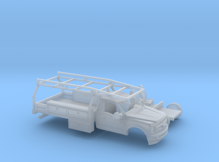 1/120 2017 Ford F-Series Reg Cab Contractor Kit 3d printed