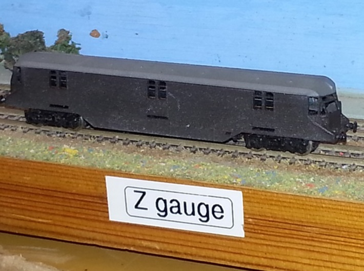 Z-Gauge - GWR Parcels Car 3d printed finished model