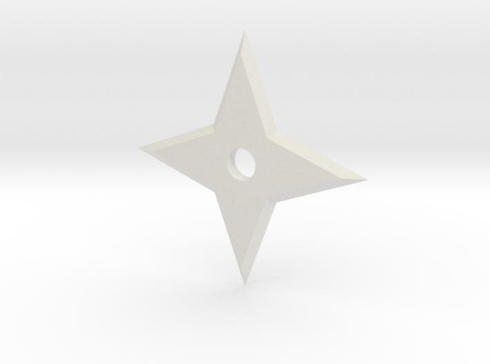 Simple 4 Point Ninja Star 3d printed