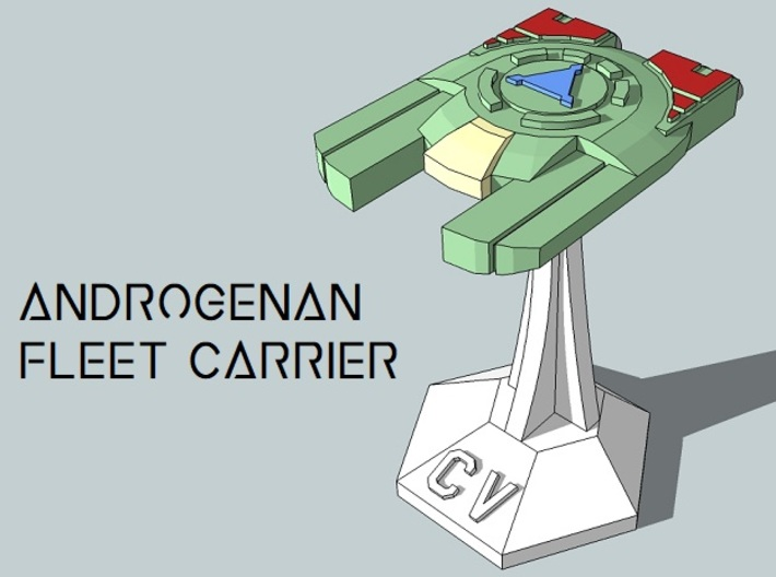 MicroFleet Androgenan Carrier Group (21pcs) 3d printed