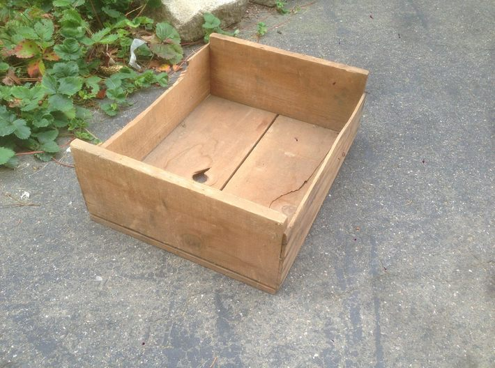Soft Fruit Shipping Crates N Scale 3d printed Box found in basement