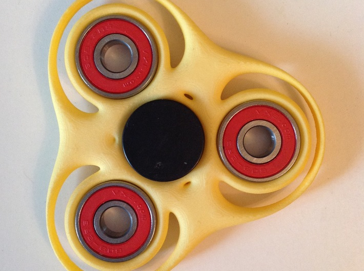Trefoil Circle Spinner 3d printed