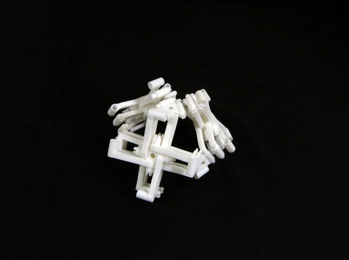 Branched scissor mechanism demo set 3d printed