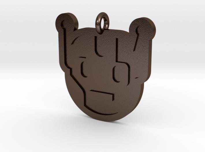 Killbot Pendant 3d printed