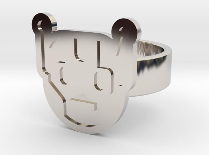 Killbot Ring 3d printed