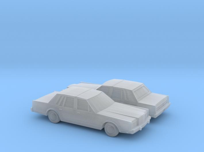 1/160 2X 1983 Lincoln Town Car 3d printed