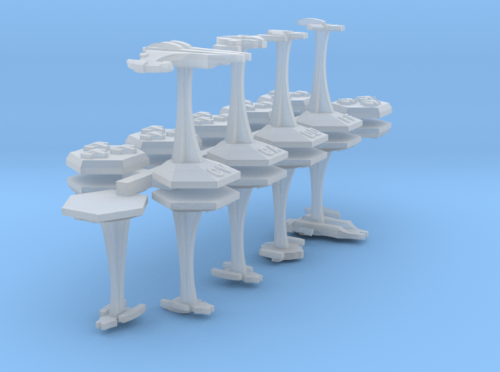 MicroFleet Do'Minion Carrier Group (21pcs) 3d printed