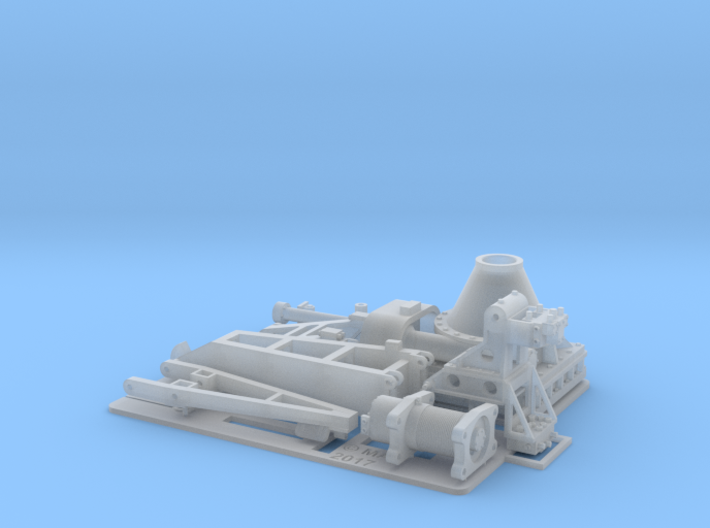 1 x Hunt Class Upper deck Crane 1/48 3d printed