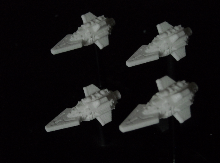 VA108A Ferocious Thrust Class Frigate (x4) 3d printed Model in WSF