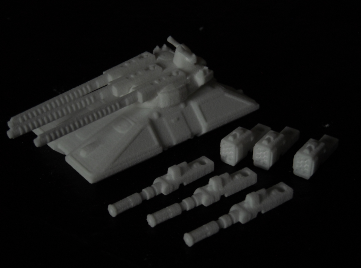 MG144-HE004 Eques Battle Tank 3d printed Model in WSF