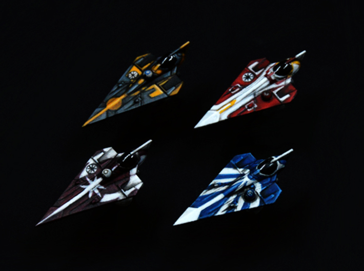 Delta-7 Variants 4pack 1/270 3d printed