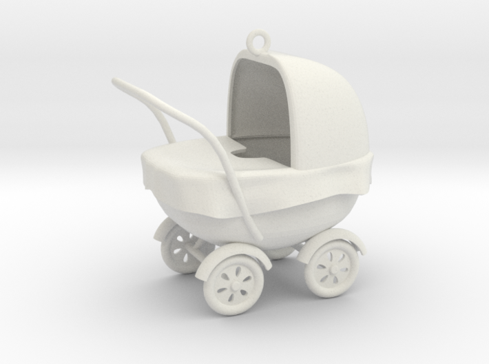 Xmas baby stroller ornament 3d printed