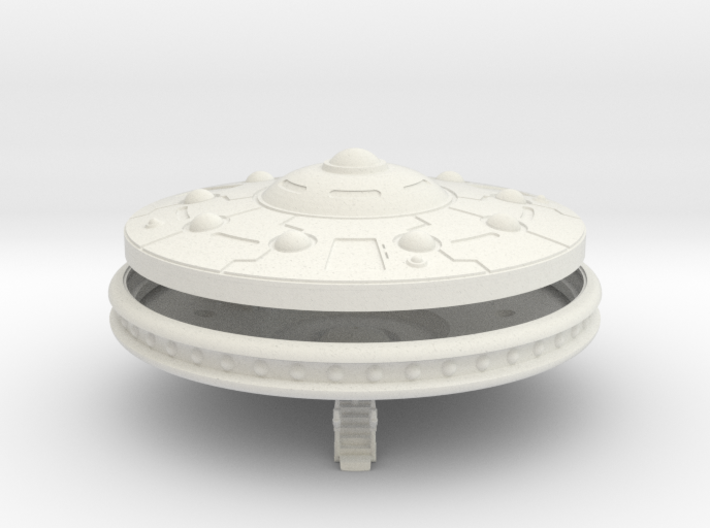 "5"" diameter Turret Scout Saucer Kit 3d printed"