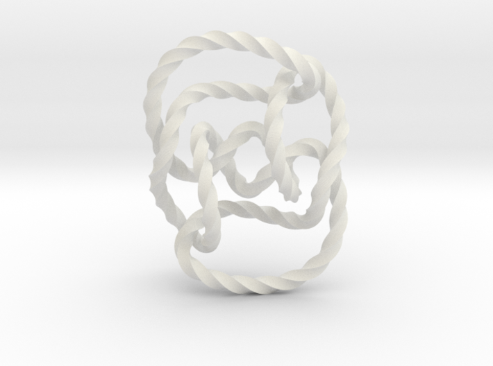 Knot 10₁₄₄ (Twisted square) 3d printed
