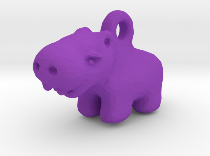 Baby Hippo Pendant 3d printed