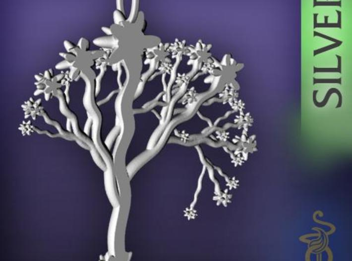 'Blossom tree' a fractal pendant 6cm  3d printed 3