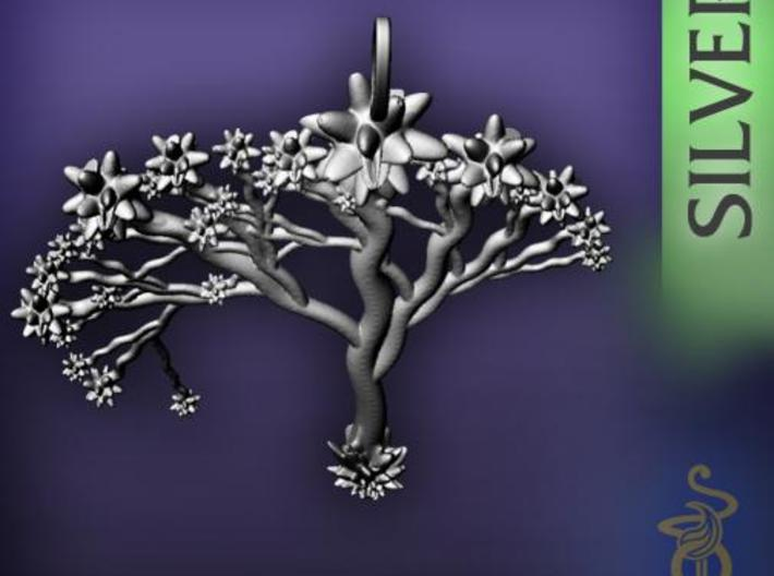 'Blossom tree' a fractal pendant 6cm  3d printed 4