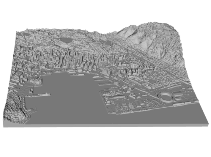 Map of Downtown Wellington, New Zealand 3d printed