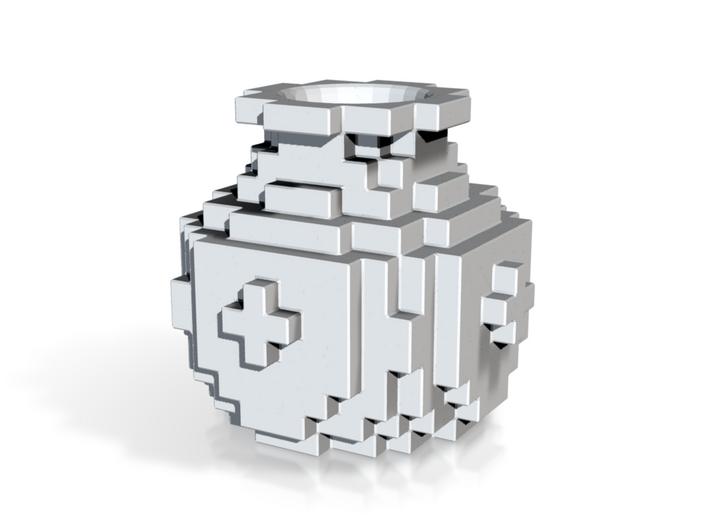 Pixel Plus Vase 3d printed