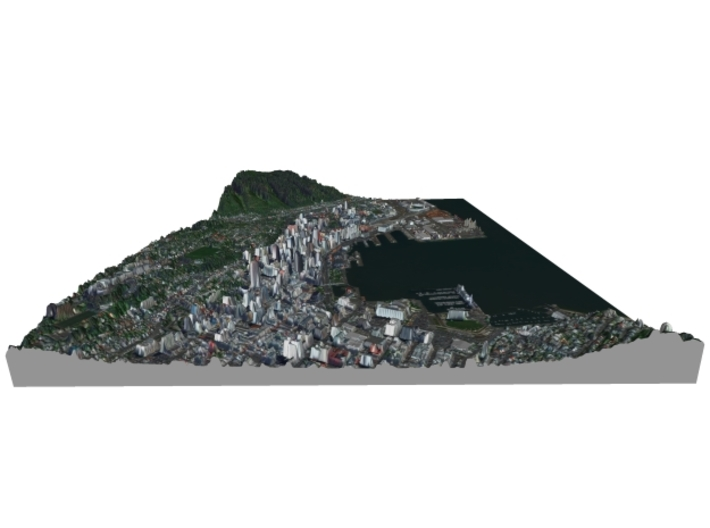 Colored Map of Downtown Wellington, New Zealand  3d printed