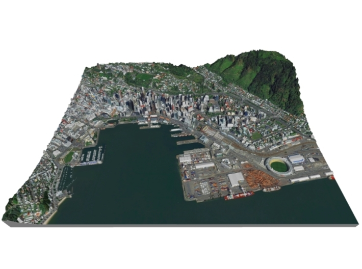 3d Map Of New Zealand.Colored Map Of Downtown Wellington New Zealand