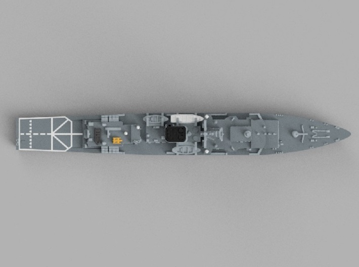 1/1800 Training ship JS Kashima 3d printed Computer software render.The actual model is not full color.