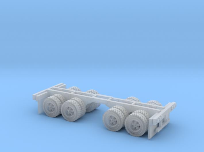 duel axle wheel set Z scale 3d printed 2 duel wheels Z scale