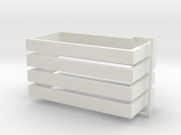 Parkhecke rechteckig (Buchsbaum) 4er Set 1:120 3d printed